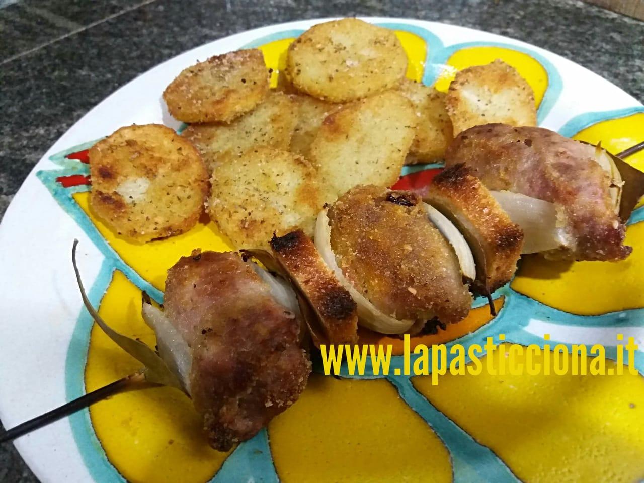 Spitini di  carni (involtini di carne) al forno alla siciliana