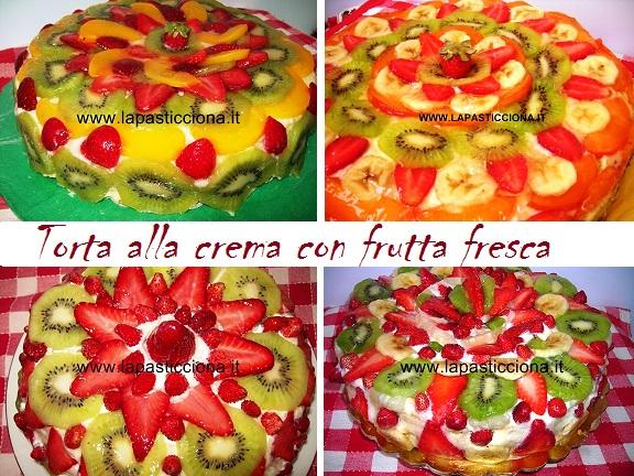 Torta alla crema con frutta fresca