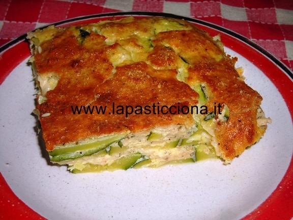 Parmigiana bianca di zucchine al forno
