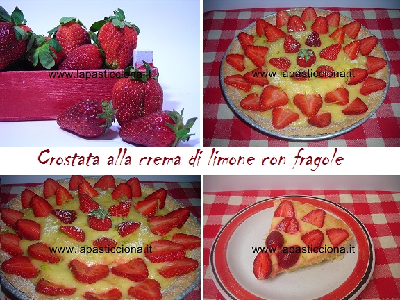 Crostata alla crema di limone con  fragole