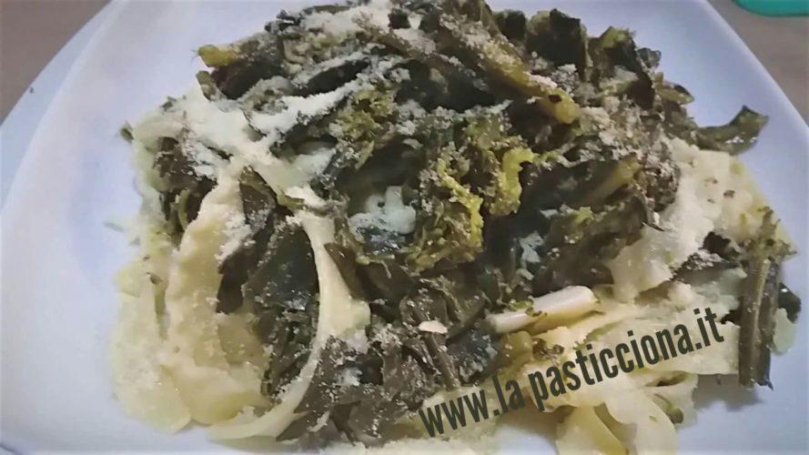 Pasta con gli sparacelli (broccoletti) in bianco
