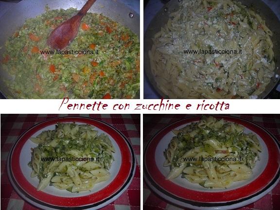 Pennette con zucchine e ricotta