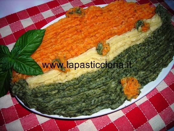 Purè di patate tricolore