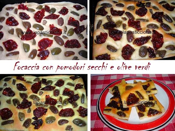 Focaccia con pomodori secchi e olive verdi 8