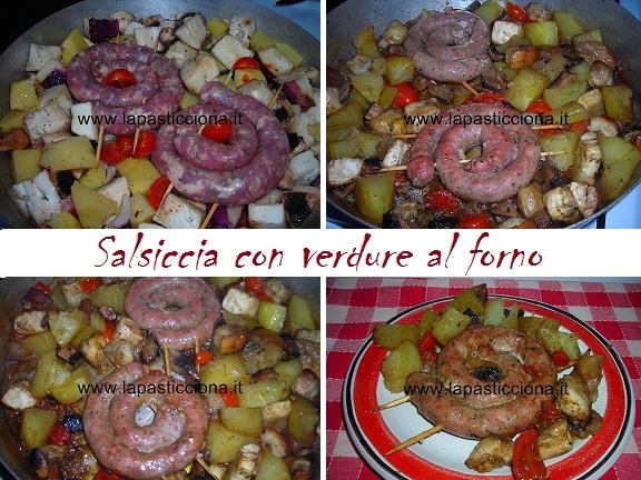 Salsiccia con verdure al forno