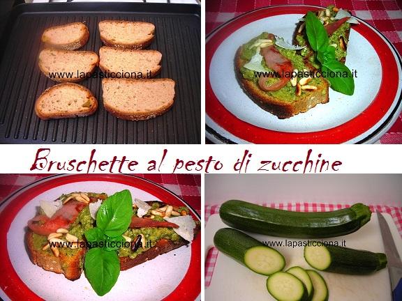 Bruschette al pesto di zucchine