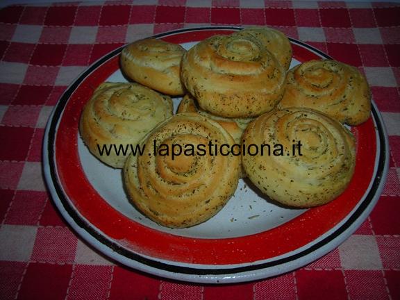 Girelle di pane al rosmarino