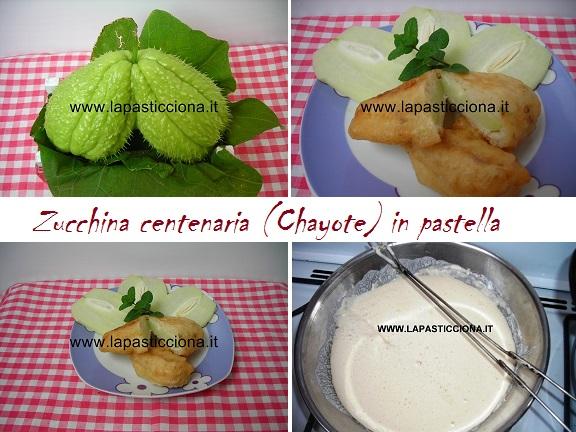 Zucchina centenaria (Chayote) in pastella