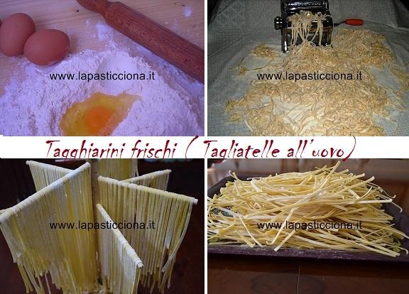 Tagghiarini frischi ( Tagliatelle all'uovo)