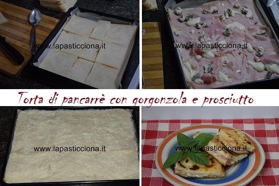 Torta di pancarrè con gorgonzola e prosciutto