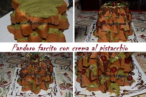 Pandoro farcito con crema al pistacchio