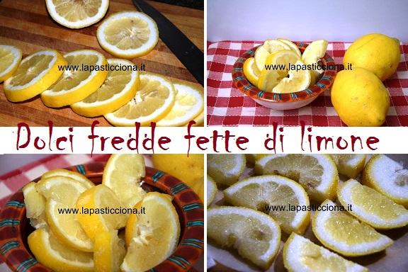 Dolci fredde fette di limone