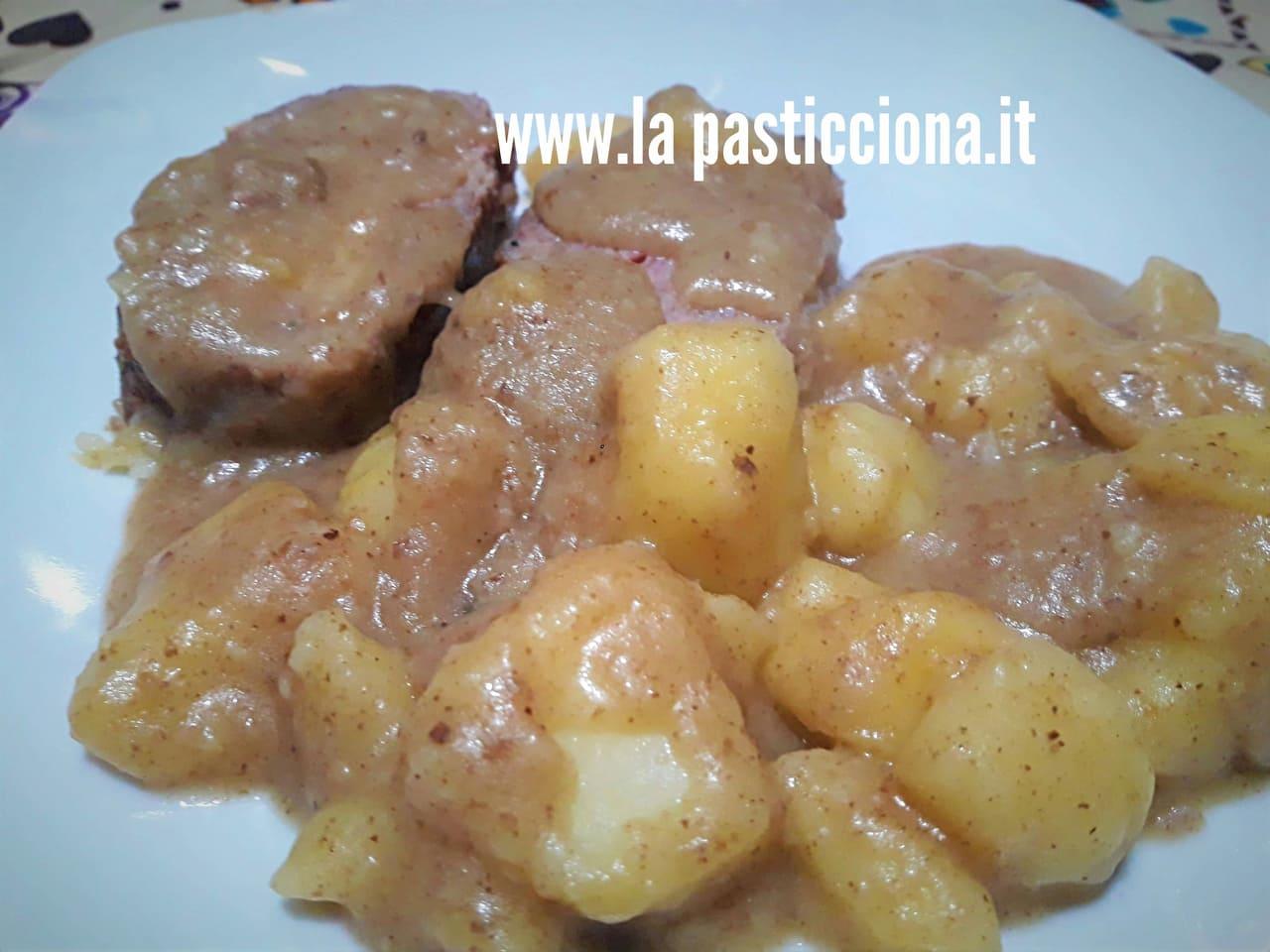 Polpettone con patate in tegame