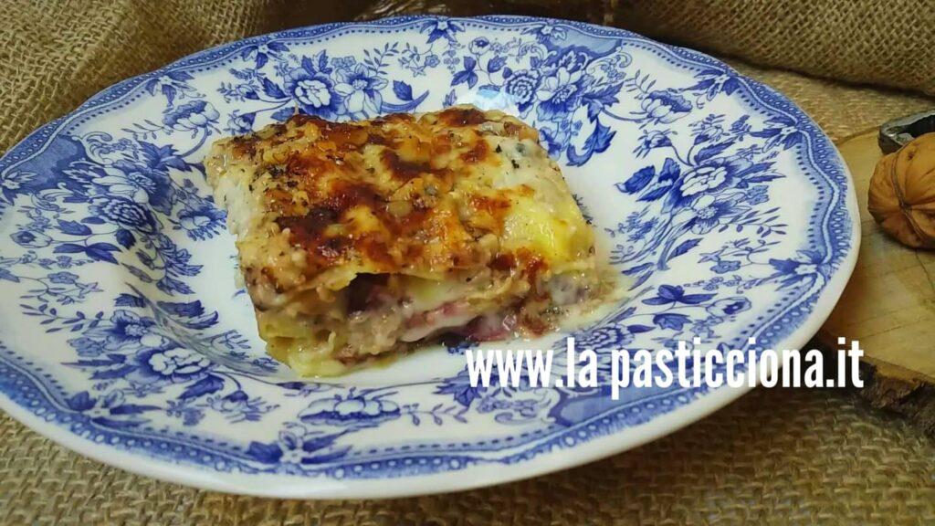 Lasagne al gorgonzola con radicchio e noci